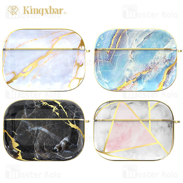 کاور ایرپاد پرو Apple Airpods Pro Kingxbar Swarovski Marble Series