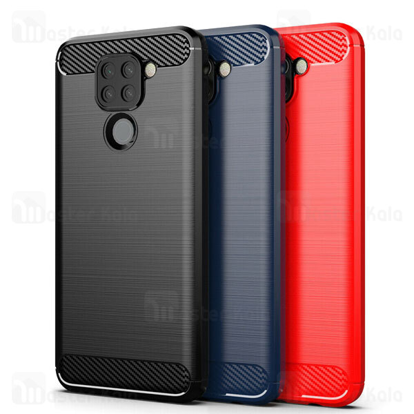 قاب محافظ ژله ای شیائومی Xiaomi Redmi Note 9 / Redmi 10x 4G Rugged Armor Fiber Carbon