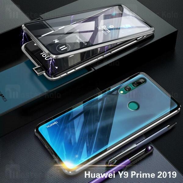 قاب مگنتی 360 درجه Huawei Y9 Prime 2019 / Honor 9x Global Magnetic 2 in 1 Case دارای گلس صفحه