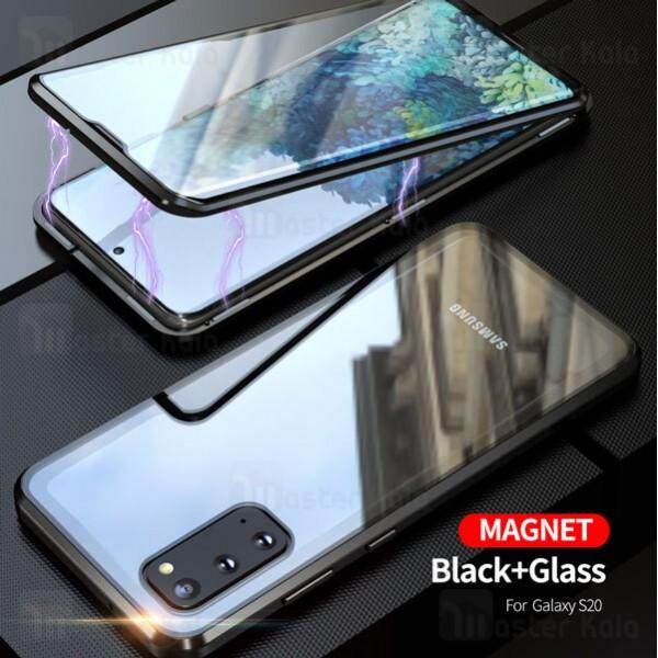 قاب مگنتی 360 درجه Samsung Galaxy S20 Magnetic 2 in 1 Case دارای گلس صفحه