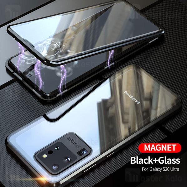 قاب مگنتی 360 درجه Samsung Galaxy S20 Ultra Magnetic 2 in 1 Case دارای گلس صفحه