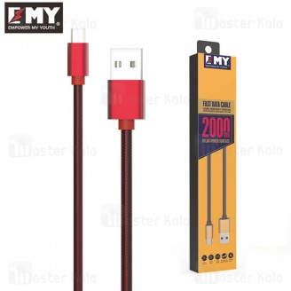 کابل میکرو یو اس بی امی EMY MY-448 Data Cable با طول 2 متر