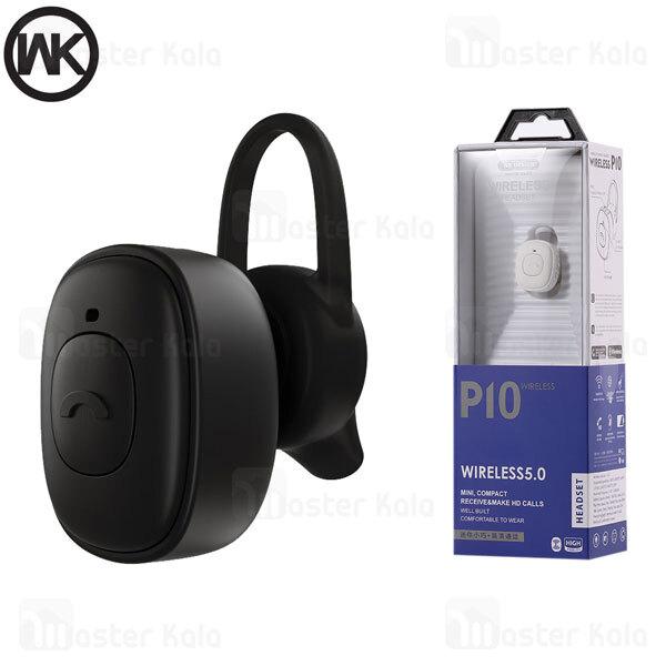 هندزفری بلوتوث تک گوش دبلیو کی WK Design P10 Wireless Headset