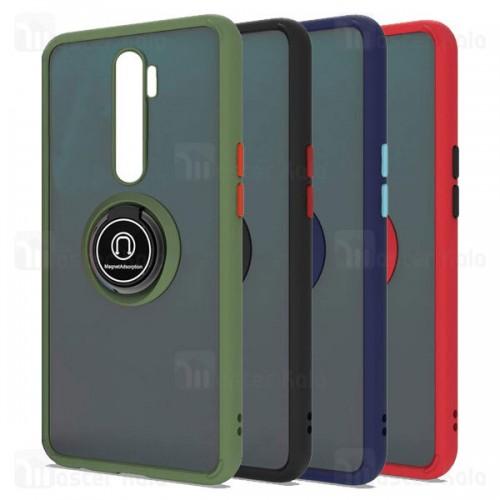 قاب مات هیبریدی انگشتی Xiaomi Redmi Note 8 Pro Matte Hybrid Ring Case