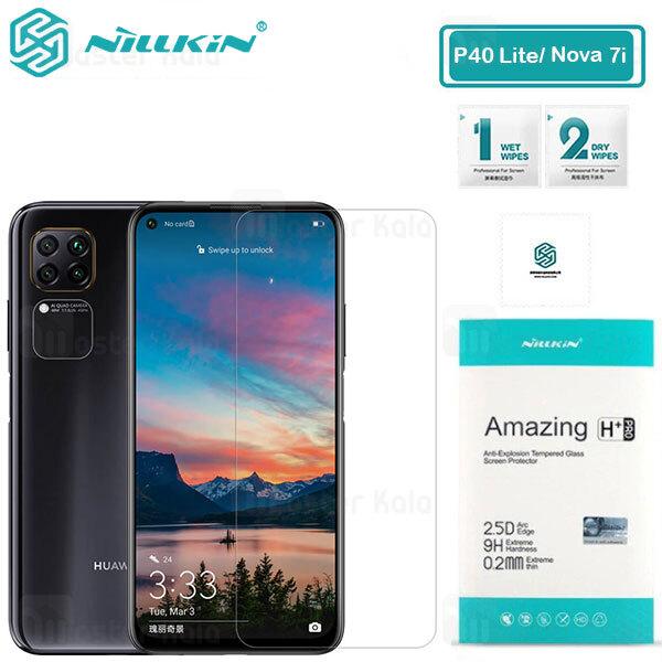 محافظ صفحه شیشه ای نیلکین هواوی Huawei Nova 7i / P40 Lite / Nova 6 SE Nillkin H+ Pro + محافظ لنز