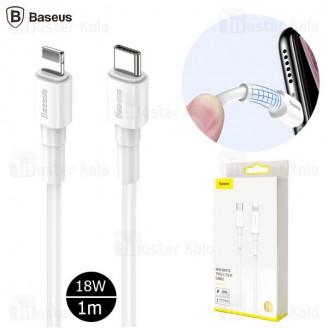 کابل فست شارژ Type C به لایتنینگ بیسوس Baseus Mini PD CATLSW-02 1m توان 18 وات