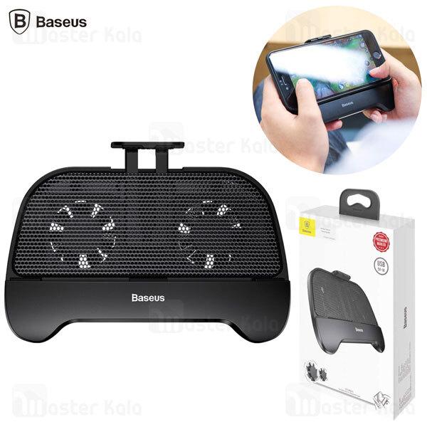 دسته بازی و هولدر فن دار بیسوس Baseus Hand Handle Cooling Gamepad ACSR-01