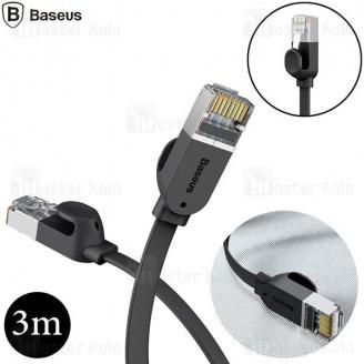 کابل شبکه بیسوس Baseus PCWL-C01 Cat6.0 RJ45 Gigabit 3m فلت با طول 3 متر