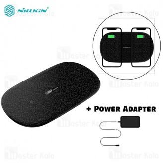 شارژر وایرلس دوتایی نیلکین Nillkin Double Shadows Dual Fast Wireless Charging MC030 توان 10 وات
