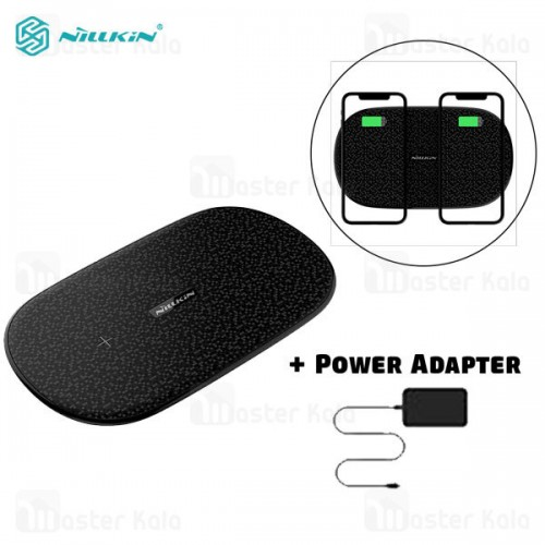 شارژر وایرلس دوتایی نیلکین Nillkin Double Shadows Dual Fast Wireless Charging MC030 توان 10 وات