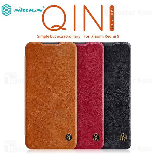 کیف چرمی نیلکین شیائومی Xiaomi Redmi 9 Nillkin Qin Leather Case