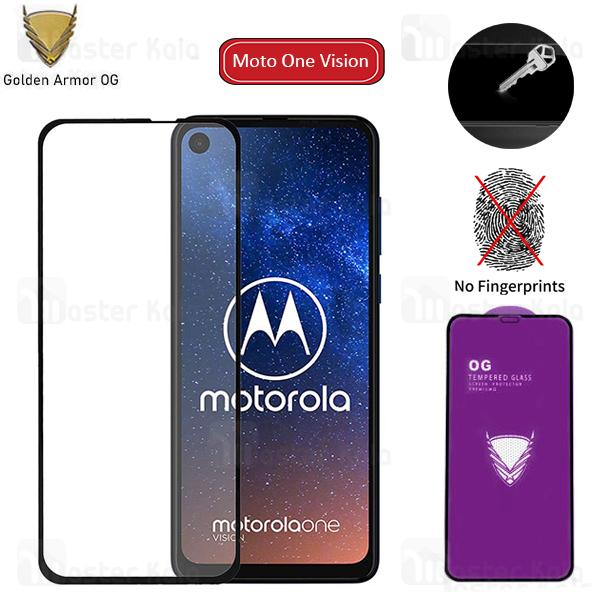 محافظ صفحه شیشه ای تمام صفحه تمام چسب OG موتورولا Motorola Moto One Vision / One Action OG 2.5D Glass