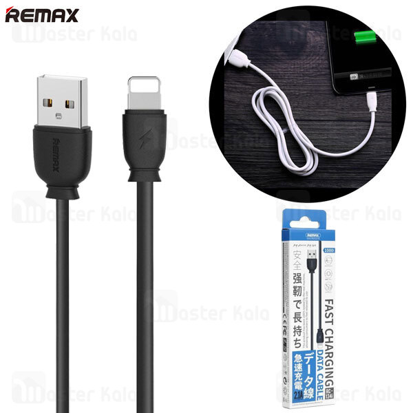 کابل لایتنینگ ریمکس Remax RC-134i suji Data Cable توان 2.1 آمپر
