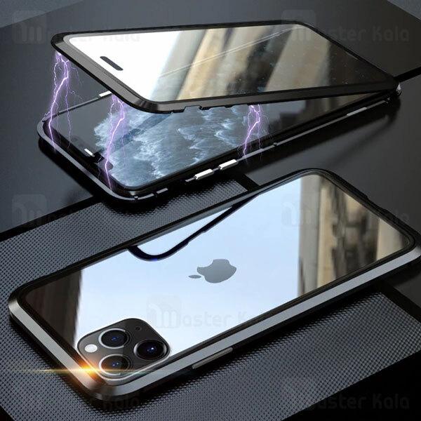 قاب مگنتی 360 درجه Apple iPhone 11 Pro Max Magnetic 2 in 1 Case دارای گلس صفحه