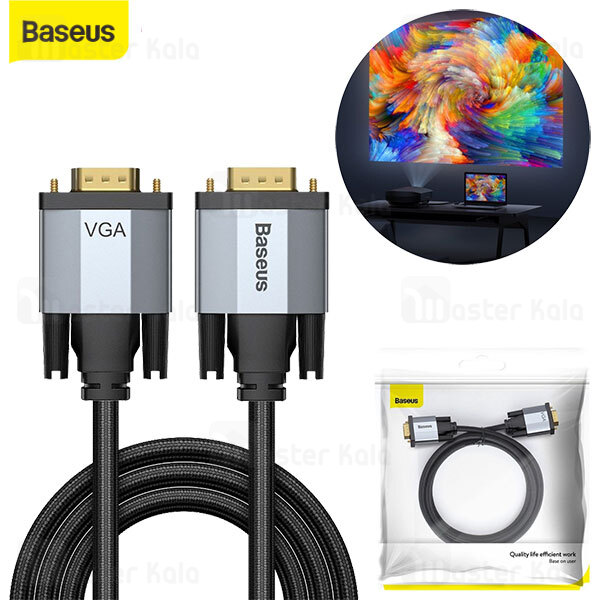 کابل VGA بیسوس Baseus Enjoyment VGA Male To VGA Male CAKSX-T0G به طول 1 متر