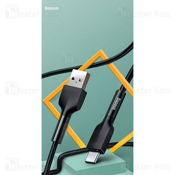 کابل Type C بیسوس Baseus Silica gel CATGJ-A01 / A06 cable توان 2.4 آمپر به طول 2 متر