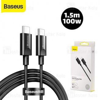 کابل تایپ سی به تایپ سی Baseus Xiaobai series PD fast charging Cable CATSW-D01 طول 1.5 متر و 100 وات