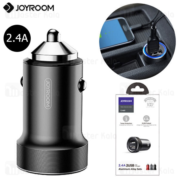 شارژر فندکی جویروم Joyroom C-A01 Dual Ports Car Charger توان 2.4 آمپر