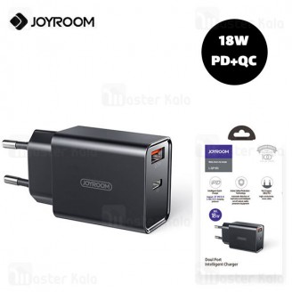شارژر دیواری جویروم Joyroom L-QP183 Series QC PD Dual Port Fast Charger توان 18 وات