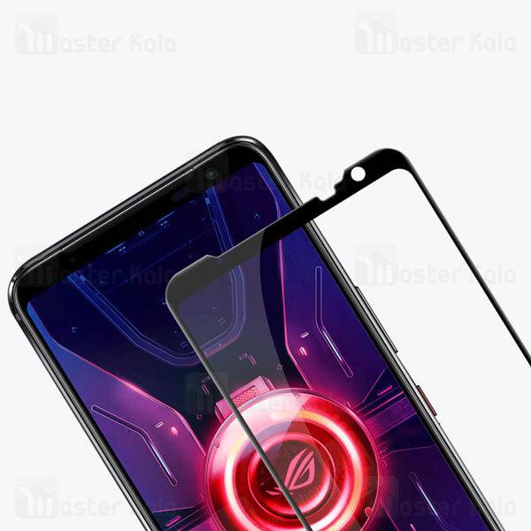 محافظ صفحه شیشه ای تمام صفحه تمام چسب نیلکین Asus ROG Phone 3 Nillkin CP+ Pro