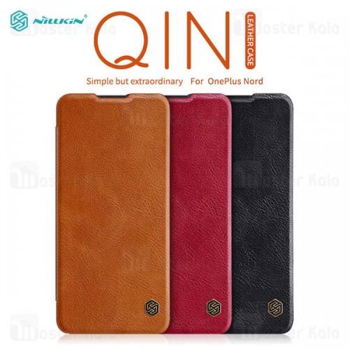 کیف چرمی نیلکین وان پلاس OnePlus Nord Nillkin Qin Leather Case
