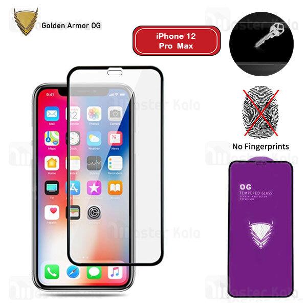 محافظ صفحه شیشه ای تمام صفحه تمام چسب OG آیفون Apple iPhone 12 Pro Max OG 2.5D Glass