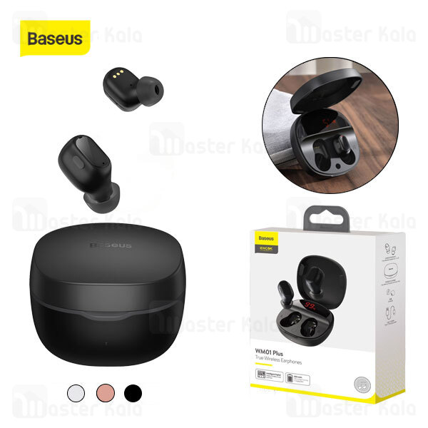 هندزفری بلوتوث دوگوش بیسوس Baseus WM01 Plus Encok True Wireless Earphones NGWM01P-01