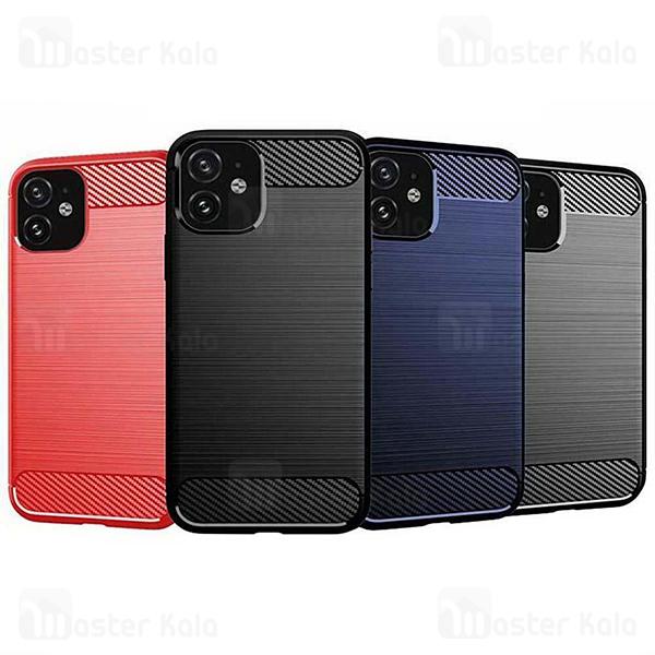 قاب محافظ ژله ای آیفون Apple iPhone 12 mini Rugged Armor Fiber Carbon