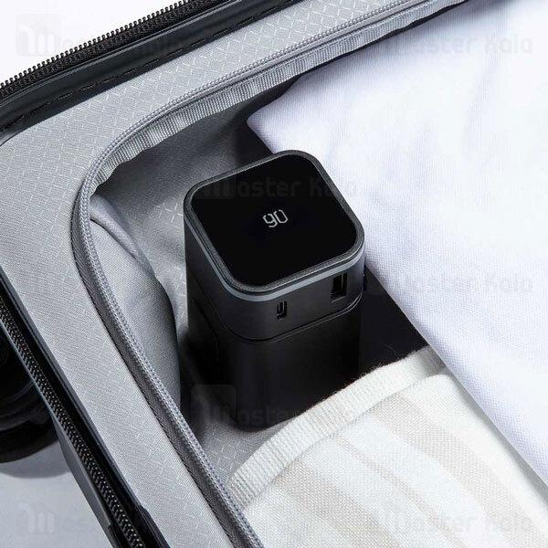 آداپتور دو پورت و مبدل برق چندکاره شیائومی Xiaomi 90 RM-302PD GOFUN Multifunctional Adapter