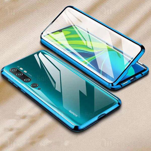 قاب مگنتی 360 درجه Xiaomi Mi CC9 Pro / Mi Note 10 / Note 10 Pro Magnetic 2 in 1 Case دارای گلس صفحه