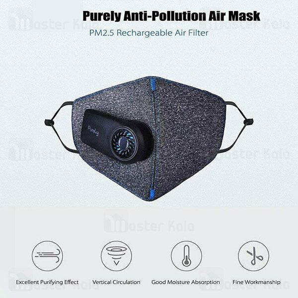 ماسک N95 فن دار شیائومی Xiaomi Purely Electric Face Mask Pm2.5 HZSN001