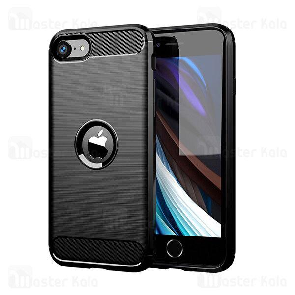 قاب محافظ ژله ای آیفون Apple iPhone SE 2020 Rugged Armor Fiber Carbon