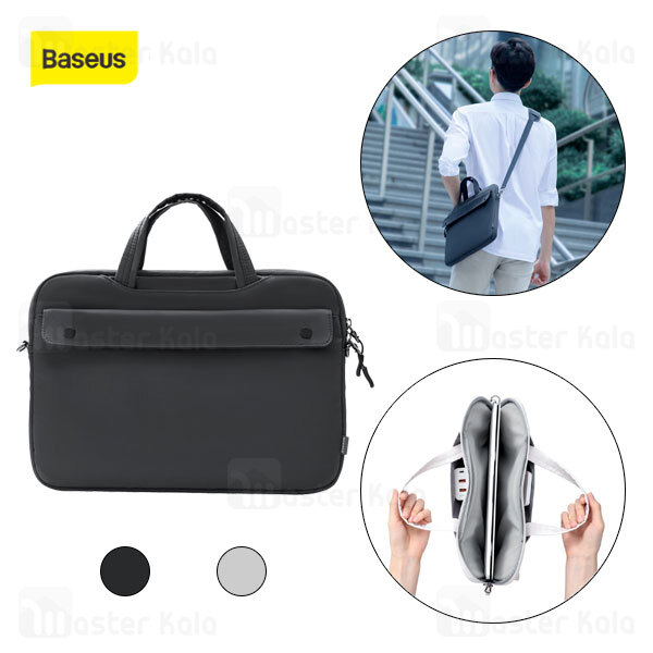 کیف لپ تاپ بیسوس Baseus Basics Series 13 inch Shoulder Computer Bag LBJN-G0G سایز 13 اینچ