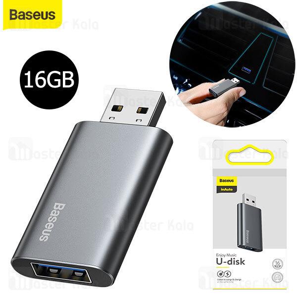فلش مموری و آداپتور شارژ بیسوس Baseus Enjoy Music U-Disk 16GB ACUP-A0A ظرفیت 16 گیگابایت