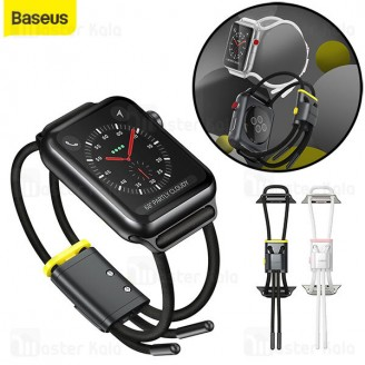بند ساعت اپل واچ Baseus Lockable Rope Strap for AP Watch Series 3/4/5/6/SE 42mm/44mm LBAPWA4-BGY