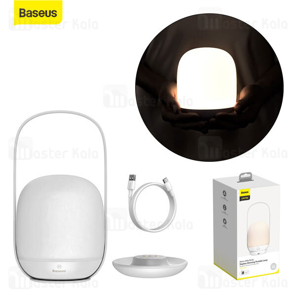 چراغ خواب بیسوس Baseus Moon-white Series Stepless Dimming Portable Lamp DGYB-A02