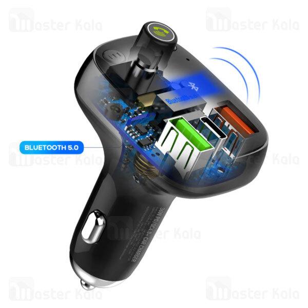 شارژر فندکی و پخش کننده بلوتوث الدینیو LDNIO C704Q Bluetooth Car Charger QC4 توان 36 وات همراه کابل