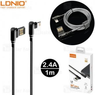 کابل لایتنینگ الدینیو LDNIO LS421 Gaming Cable طول 1 متر توان 2.4 آمپر