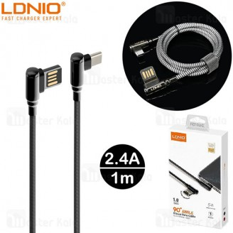 کابل Type C الدینیو LDNIO LS421 Gaming Cable طول 1 متر توان 2.4 آمپر