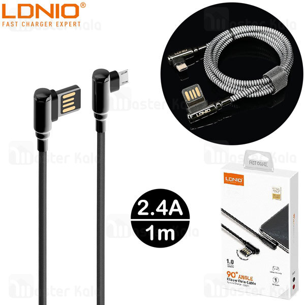 کابل میکرو یو اس بی الدینیو LDNIO LS421 Gaming Cable طول 1 متر توان 2.4 آمپر