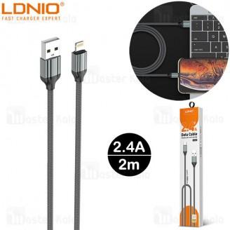 کابل لایتنینگ الدینیو LDNIO LS432 Cable طول 2 متر توان 2.4 آمپر