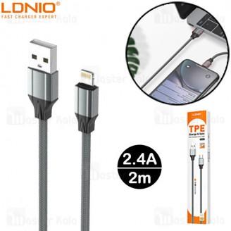 کابل لایتنینگ الدینیو LDNIO LS442 Cable طول 2 متر توان 2.4 آمپر