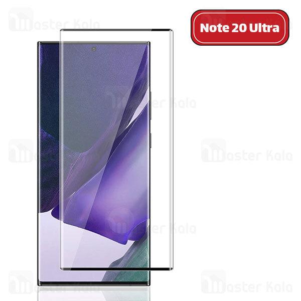 محافظ صفحه شیشه ای تمام صفحه تمام چسب خمیده Samsung Galaxy Note 20 Ultra Full Screen Glass
