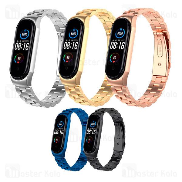 بند فلزی دستبند سلامتی شیائومی Xiaomi Mi Band 5 / 4 / 3 Bead 3 Wrist Strap