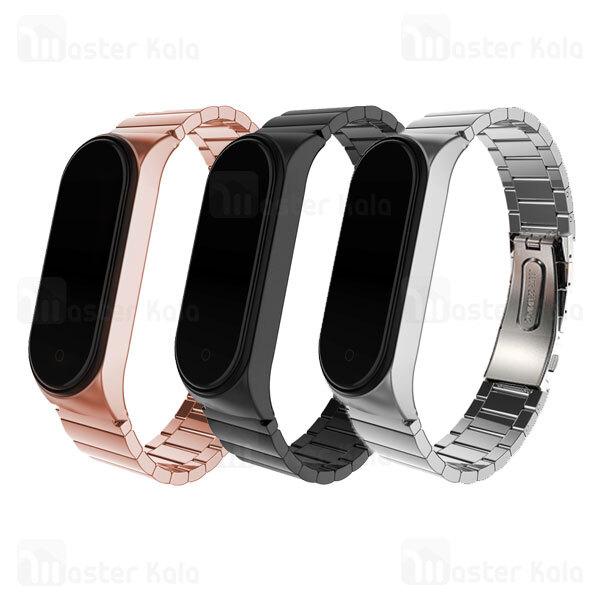 بند فلزی دستبند سلامتی شیائومی Xiaomi Mi Band 5 / 4 / 3 One Bead Link Wrist Strap