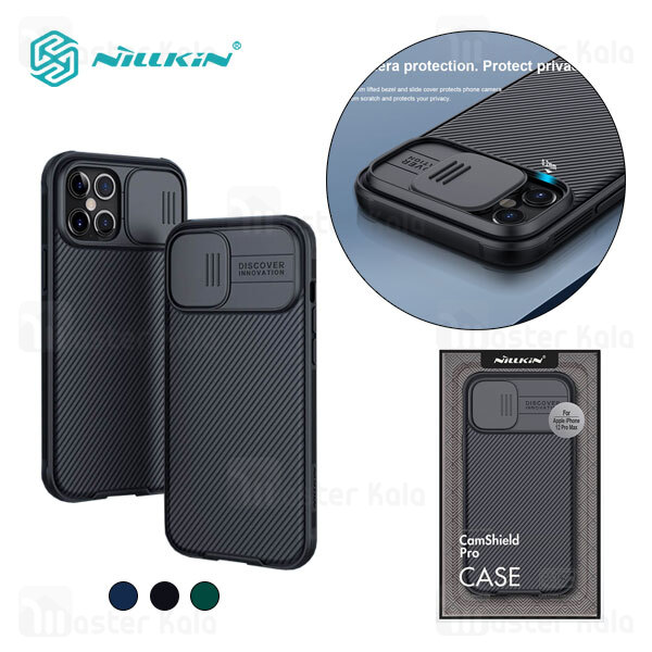 قاب محافظ نیلکین آیفون Apple iPhone 12 Pro Max Nillkin CamShield Pro Case دارای محافظ دوربین