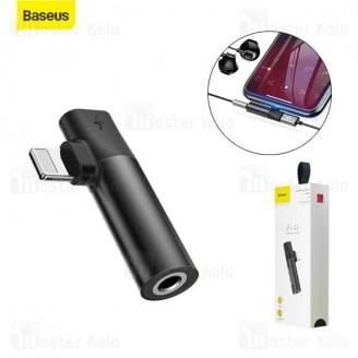 تبدیل لایتنینگ بیسوس Baseus L43 Lightning and 3.5mm Connector CALL43-01 اتصال همزمان هندزفری و شارژر