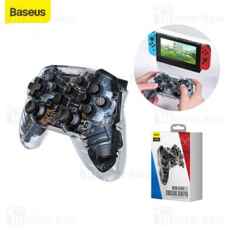 دسته بازی بلوتوثی بیسوس Baseus SW Motion Sensing Vibrating Gamepad Transparent GMSWA-01