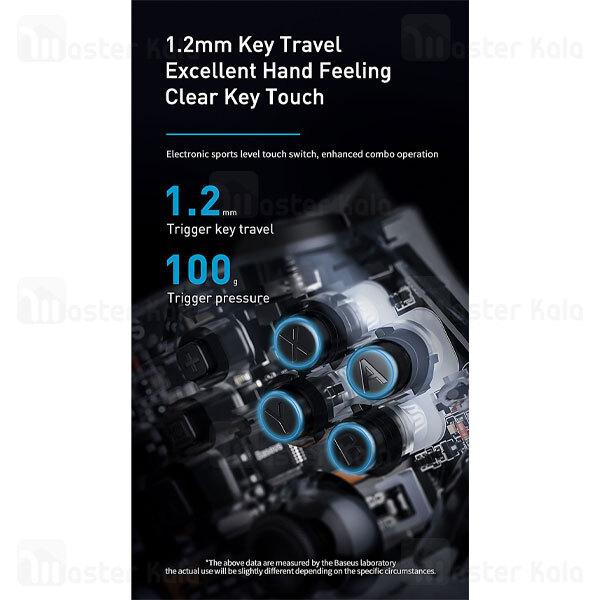 دسته بازی بلوتوثی بیسوس Baseus SW Motion Sensing Vibrating Gamepad Transparent GMSWA-01