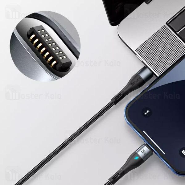 کابل مگنتی لایتنینگ بیسوس Baseus Zinc Magnetic Type C to Lightning CATLXC-01 طول 1 متر توان 20 وات